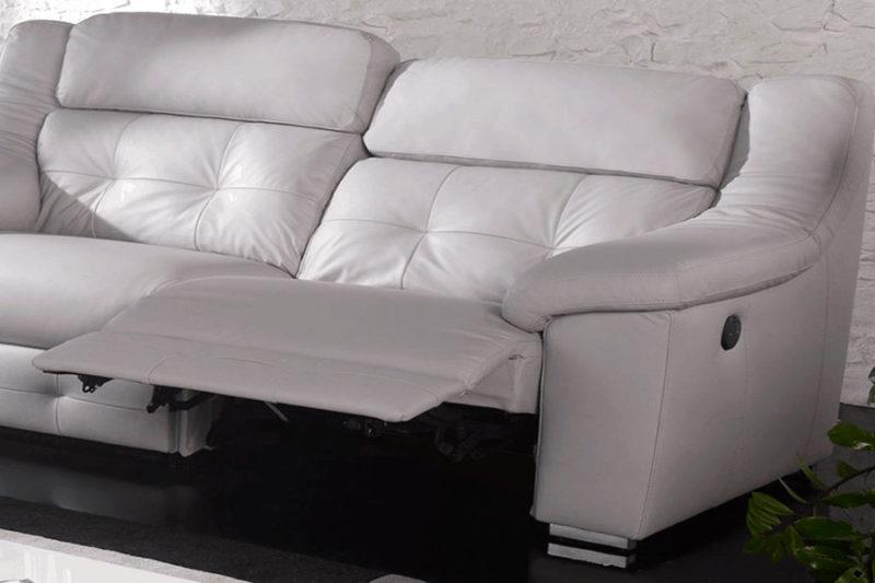 Sofás 3+2 deslizante color blanco Karmel