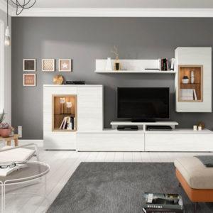 Muebles de salón modernos modulares lacado blanco