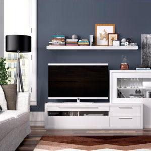 Mueble de salón blanco modular