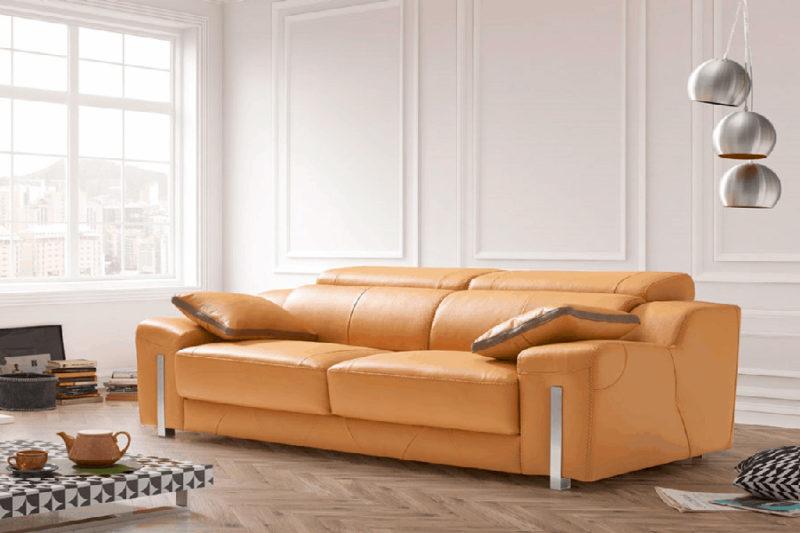 Sofá de piel autentica reclinable Torresol