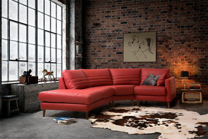 Sofá modular rinconera rojo Brooklyn