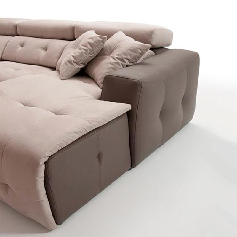 Sofá modular moderno chaise longue CLAR