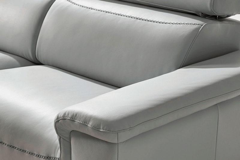 Sofá relax eléctrico blanco con costuras personalizadas Torresol Bemus
