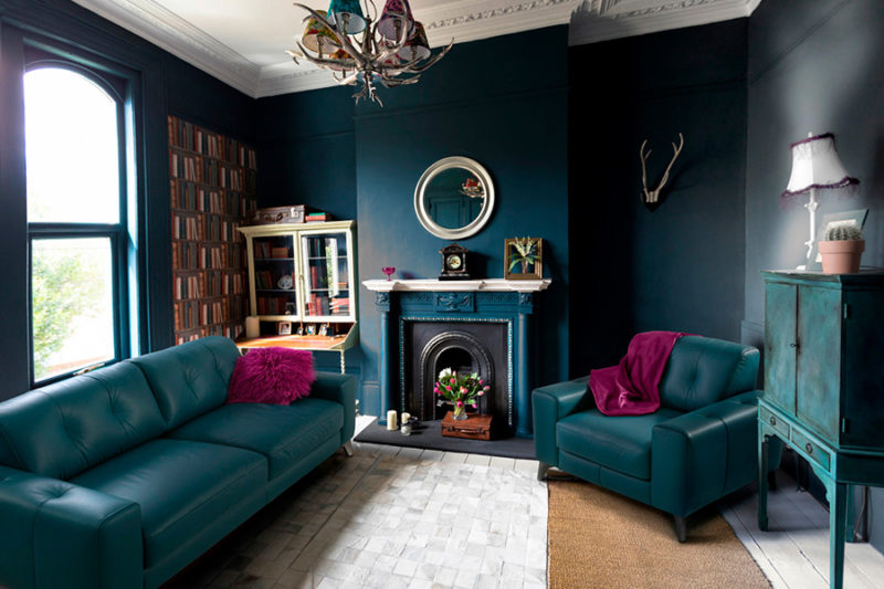 Sofá vintage azul Broadway